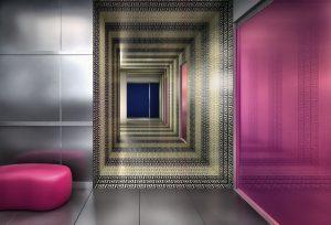 POCIT VELKÉ DEKORATIVNÍ PLOCHY dodává obklad z mikro mozaiky, materiál sklo, formáty čtverečků začínají na 1,5 x 1,5 mm. Pro výrobu zlaté mozaiky je použito 24karátové zlato. NOVINKA. KOUPELNY GLAMUR, www.glamur.cz