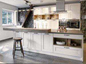 Kuchyně Aria z prémiové třídy Livanza je vhodná do interiérů inspirovaných francouzským venkovem. (Oresi)