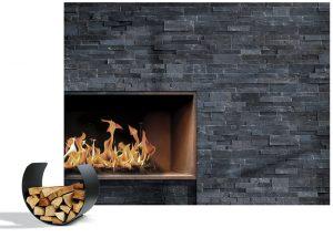 TACO NEGRO, břidlice s šedým odstínem, je ideální volbou pro milovníky opravdového kamene. Skladba, příjemná barevnost, velikost a tvar prvků jsou atributy výjimečného interiéru. Formát ve tvaru Z, rozměry 60 x 20 x 3–5 cm. Cena od 2 950 Kč/m2. STONEPANEL, www.stonepanel.cz