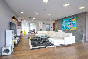 Osobitý interiér s uměleckým laděním