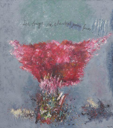 Andělé nezpívají nikdy falešně, akryl, 165 x 146 cm, 2013