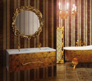 Splňte si své sny, i co se týká designu a tvaru koupelnového nábytku. Překrásný, na míru zhotovený model Baroko nám je pomůže zrealizovat. K pořízení v ceně od 49 950 Kč. DŘEVOJAS