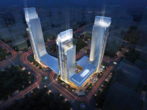 Všechny tři věže budou vzájemně propojené. Jejich design má připomínat město budoucnosti, přičemž se počítá s využitím materiálů tzv. vesmírného věku, jako jsou různé slitiny kovů.