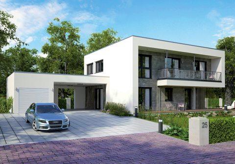 Montovaná sendvičová dřevostavba, pasivní dům 174. Jako vzorová stavba je k vidění v rakouském městě Feldkirch. Nadčasová a promyšlená architektura, nejmodernější technologie. Katalogová cena domu na klíč je 5 788 000 Kč. ELK
