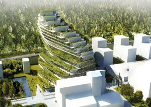 Green School Stockholm – tak se jmenuje nový typ školy, kterou budou tvořit dva sousedící oblouky a která se bude nacházet v blízkosti březového háje. Uvnitř veřejné části budovy najdeme rovněž speciální sklad potravin, kde bude v prodeji organicky pěstovaná zelenina ze sousedního skleníku.