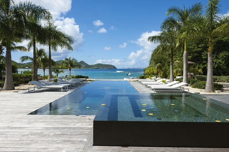 """France, French West Indies (Guadeloupe), Saint Barthelemy, Gustavia, feature : """" Palm Beach Villa"""""""