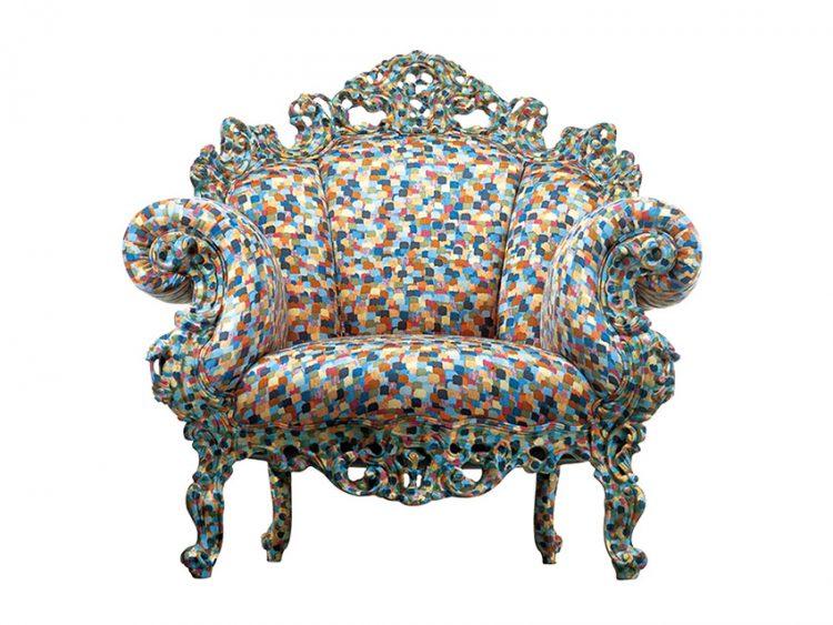 PROUST GEOMETRICA je ručně vyráběné křeslo podle původního vzoru z autorské dílny Alessandra Mendiniho z roku 1978. Cena 243 048 Kč. CAPPELLINI: URBAN SURVIVAL